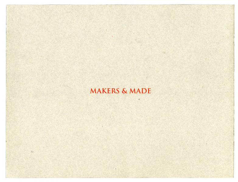 ASIAN FIELD: MAKERS & MADE, 2006
